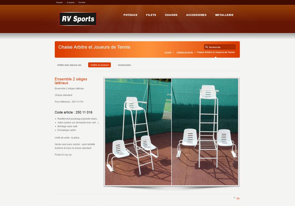 Rv Sports – Rv Tennis – Réalisation du site Internet WebEmc – Creation de site internet et solution e-commerce en indre-et-loire, touraine et val de loire.
