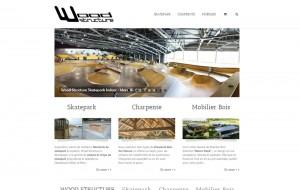 Site Internet wood-structure.com réalisé par WebEmc - Création de site internet et solution e-commerce - Indre-et-loire - Touraine - Val de Loire