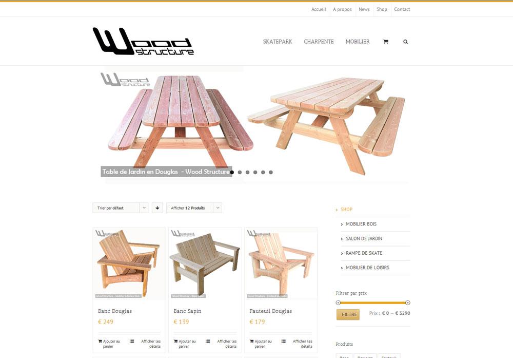 Site Internet wood-structure.com réalisé par WebEmc – Création de site internet et solution e-commerce – Indre-et-loire – Touraine – Val de Loire