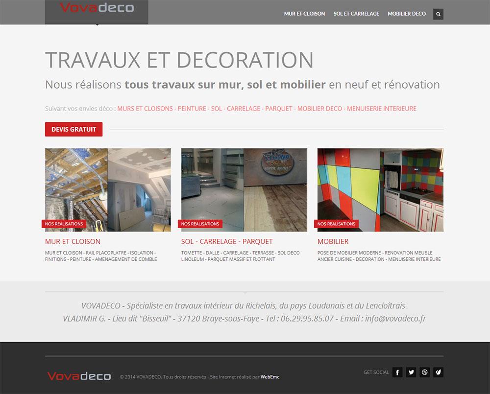 Vovadeco -Travaux de décoration intérieure – Mur – Plafond – Sol – Mobilier déco En neuf et rénovation – 37 – Indre-et-Loire – Richelieu